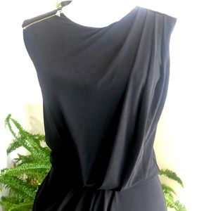 Guess Black Dress with Ruching, Size 0